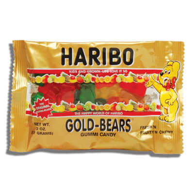 Haribo Gold Bears Gummi Candy Original 57g