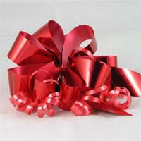 International Brands Bow - Metallic Red - For your Gift Box 5g