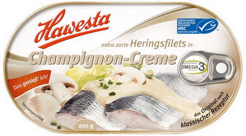 Hawesta Hering Filets in Champignon-Creme 200g