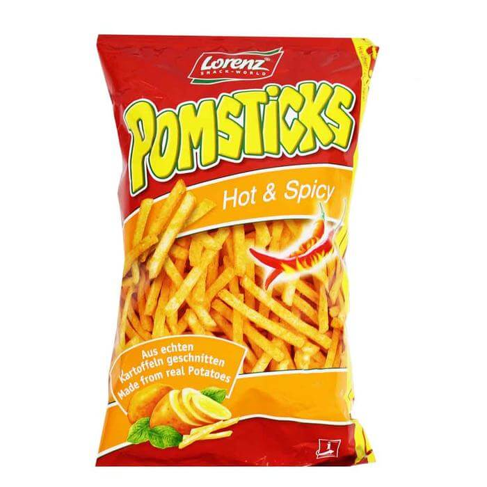 Lorenz Pomsticks Hot and Spicy 100g