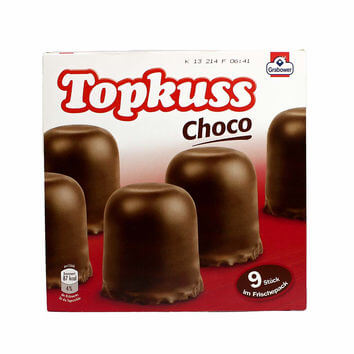 HEAT SENSITIVE - Grabower Topkuss Choco (HEAT SENSITIVE. We can not be responsible for Heat Damage) (Pack of 9) 250g