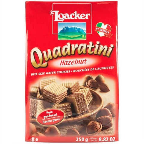 Loacker Quadratini Hazelnut Wafers 250g