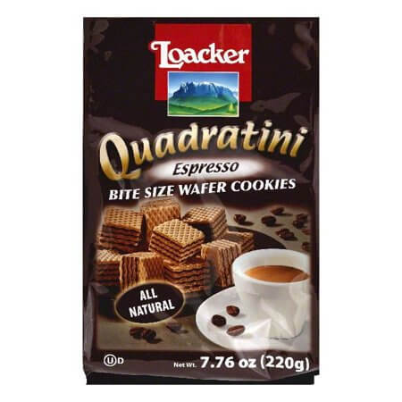 Loacker Quadratini Espresso Wafer cookies 220g