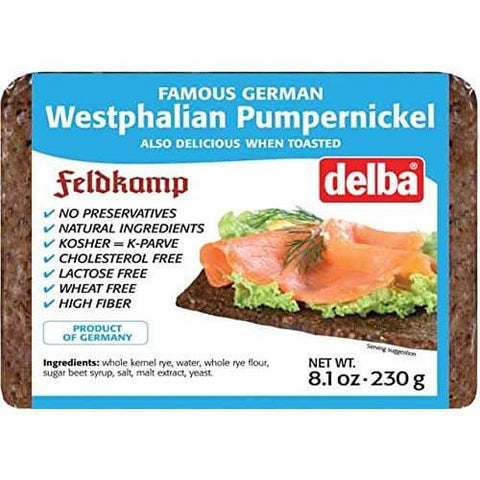 Delba Westphalian Pumpernickle Bread 230g