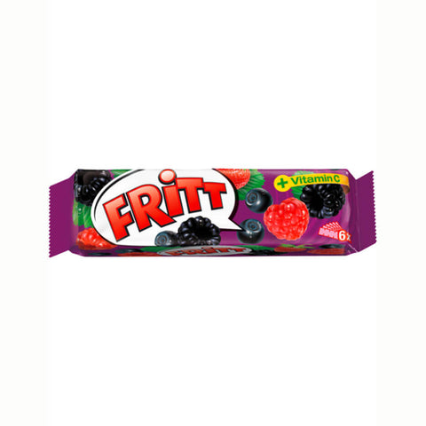 Fritt Chewy Candy Strips Wild Berry Flavour (Pack of 6) 70g