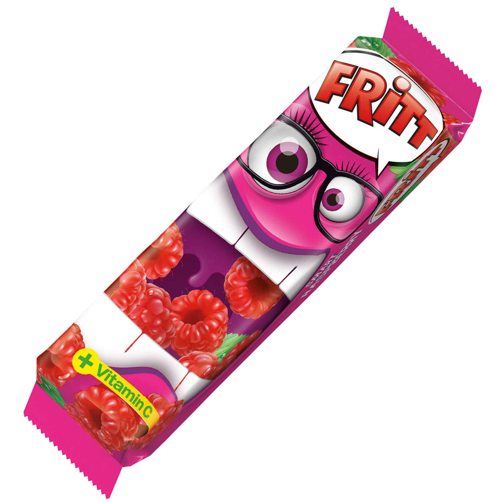 Fritt Chewy Candy Strips Raspberry Flavour (Pack of 6) 70g