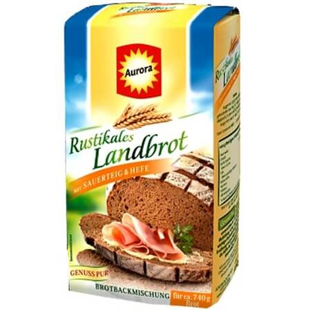 Aurora Rustic Brown Bread Mix with Sourdough and Yeast 500g