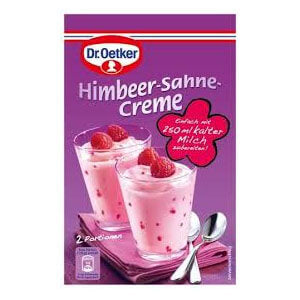 Dr Oetker Raspberry Cream Pudding 62g