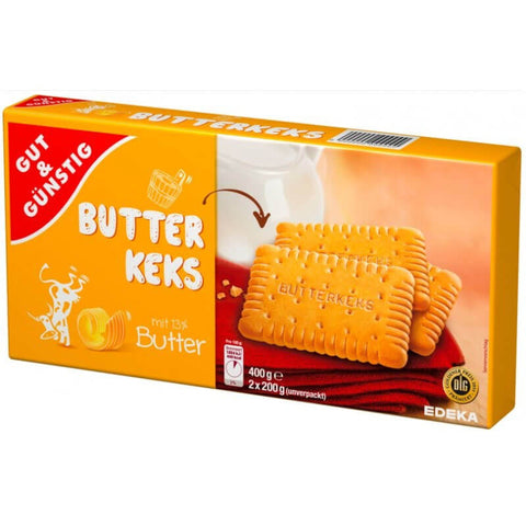 Gut And Gunstig Butter Biscuits (Pack of 2 x 200g) 400g