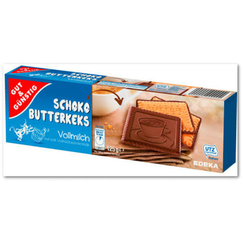 Gut And Gunstig Milk Chocolate Shortbread 125g