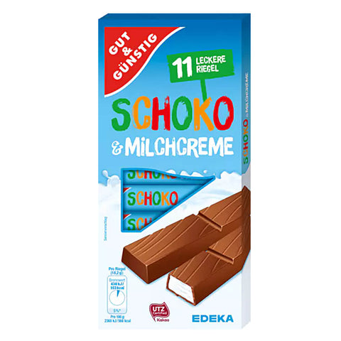 Gut And Gunstig Milk Chocolate with a Cream Filling (Pack of 11) 200g