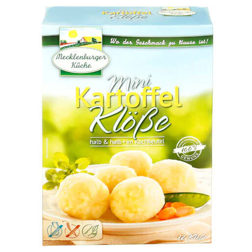 Mecklenburger Mini Knoedel-Classic Potato Dumplings In Cooking Bags (Pack of 12) 200g