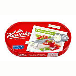 Hawesta Herring in Tomato and Basil Sauce 200g