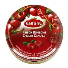 Kalfany Cherry Flavored Hard Candies Tin 150g