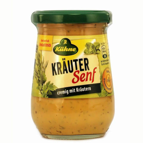 Kuehne Mustard with Herbs 250ml