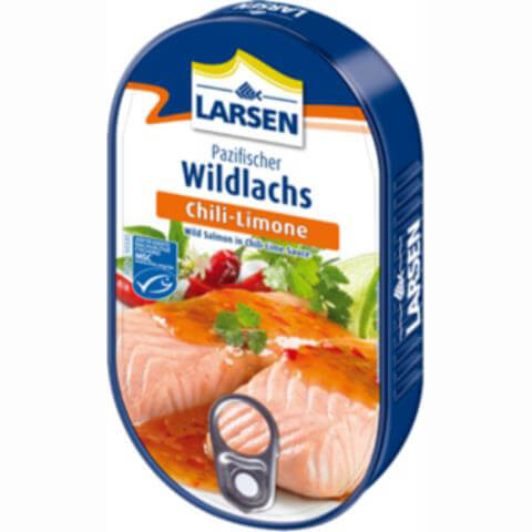 Larsen Wild Salmon In Chilli Lime Sauce 200g
