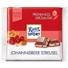 Ritter Sport Redcurrant Crumble 100g