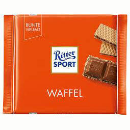 Ritter Sport Milk Chocolate Wafer 100g