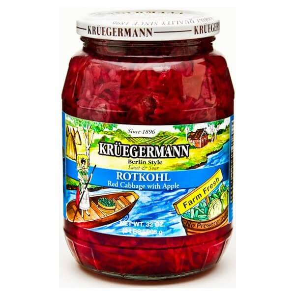 Kruegermann Berlin Style Sweet and Sour Red Cabbage with Apple 454g