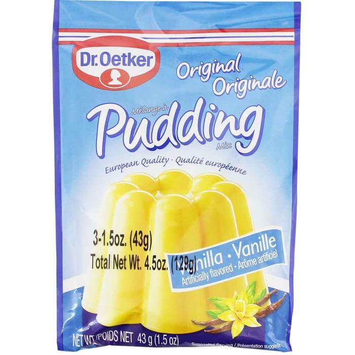 Dr Oetker Original Vanilla Pudding (Pack of 3) 129g