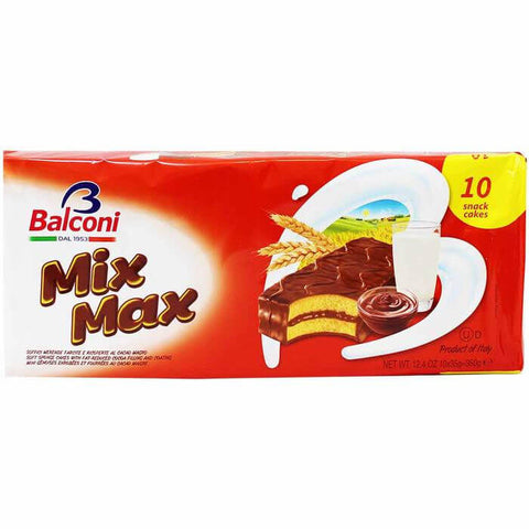 Balconi MixMax - Cocoa Cream Chocolate Cake Bars (Item Contains 10 Snacks) 350g