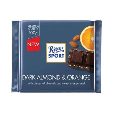 Ritter Sport Almond Orange with Dark Chocolate 100g