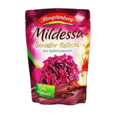 Hengstenberg Delicious Red Cabbage With Apple Slices Pouch 400g