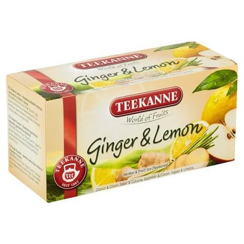 Teekanne Ginger Lemon Tea (Item Contains 20 Tea Bags) 35g