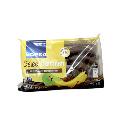 Edeka Gelee - Dark Chocolate Covered Bananas 250g