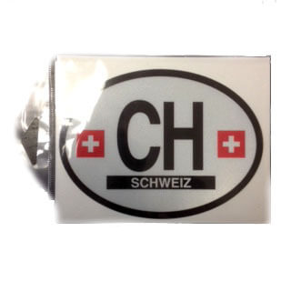 International Brands Decal Switzerland Oval Shape Reflective and Waterproof 10g