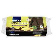 Edeka Gelee - Dark Chocolate Covered Pineapple 250g