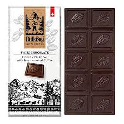 Milk Boy Swiss Chocolate - Coffee with 72% Cocoa 100g