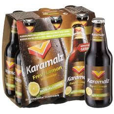 Karamalz Malt Beverage - Lemon (Item Ciontains 6 Bottles) 1980ml