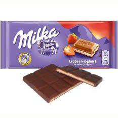 Kraft Milka - Strawberry Yogurt Milk Chocolate Bar 100g