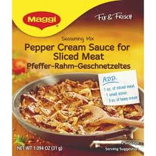 Maggi Creamy Pepper Sauce for Sliced Meat 31g