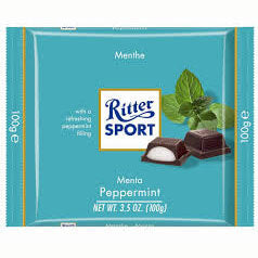 Ritter Sport Pfefferminz Bar with Dark Chocolate 100g
