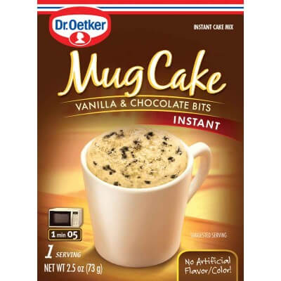 Dr Oetker Mug Cake - Vanilla and Chocolate Bits 73g