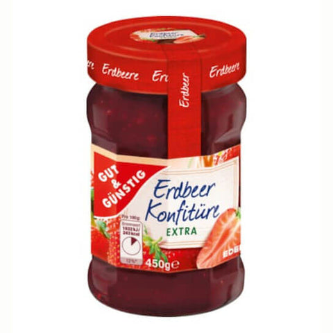 Gut and Gunstig Konfituere Erdbeere Extra 450g