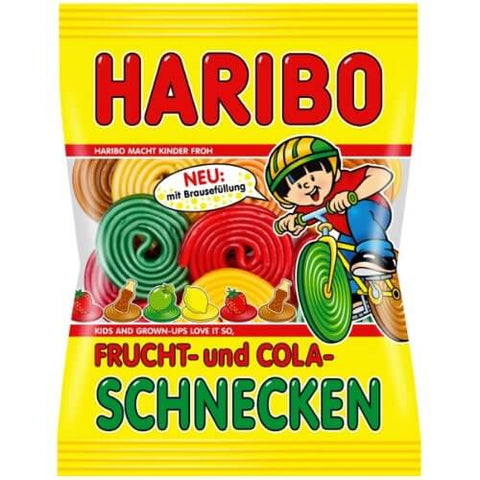 Haribo Frucht and Cola Schnecken 175g