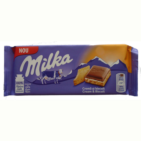 Milka Cream and Biscuit Bar 100g