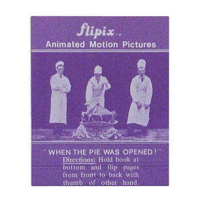 WHEN THE PIE WAS OPENED! FLIP BOOK