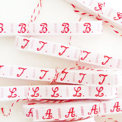 Embroidered Alphabet Ribbon