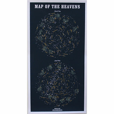 Map of the Heavens Silkscreen Print