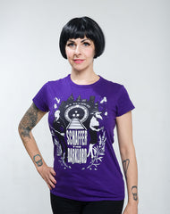 Sick Passenger tee (women's purple)