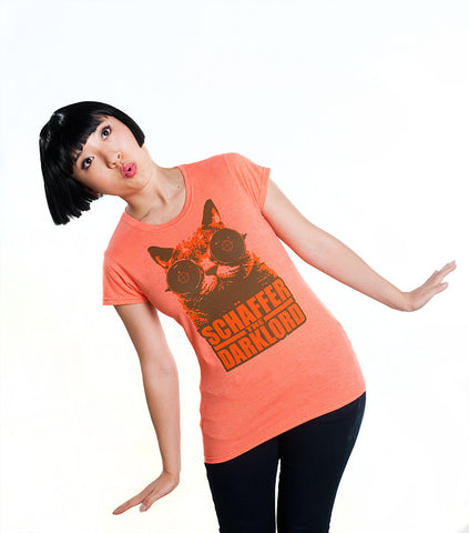 Binoculars Cat tee (women's heather orange)