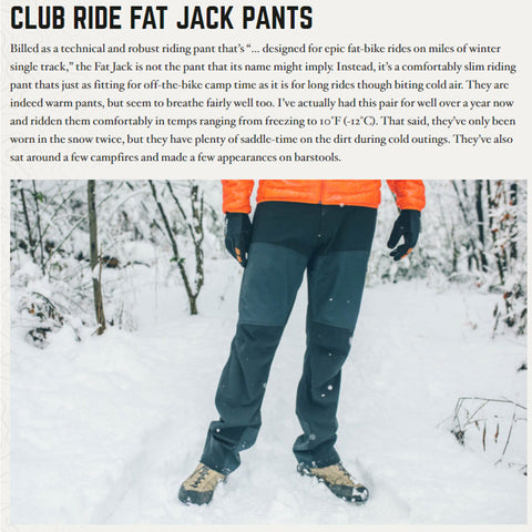 Club Ride Fat Jack Pants Review