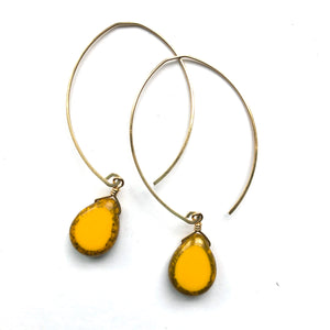 LIMITED EDITION . EARRING . SMOOTH BRIGHT YELLOW DROPS