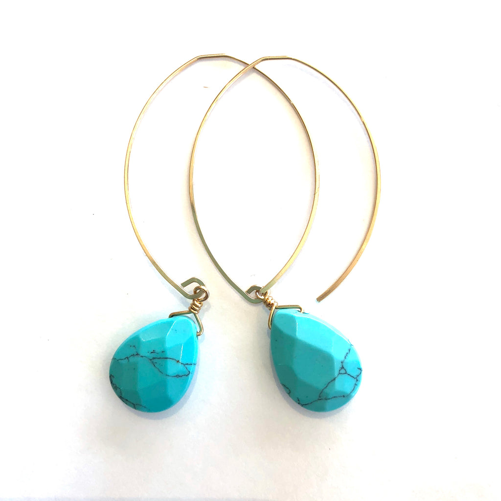 LIMITED EDITION . EARRING . FACETED TURQUOISE