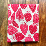 flower sack tea towel . Strawberries