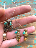 """catch of the day"" fish earrings"